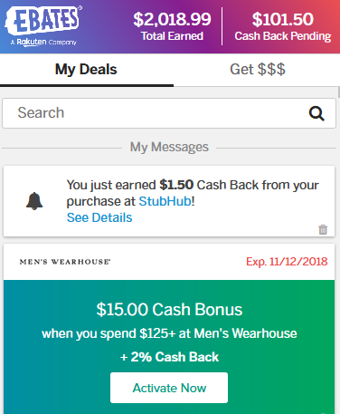 Ebates Proof - My Cashback Earnings
