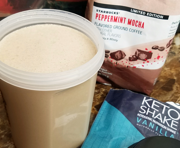 Hot Holiday Keto Shake - Low Carb Meal Replacement Breakfast Ideas