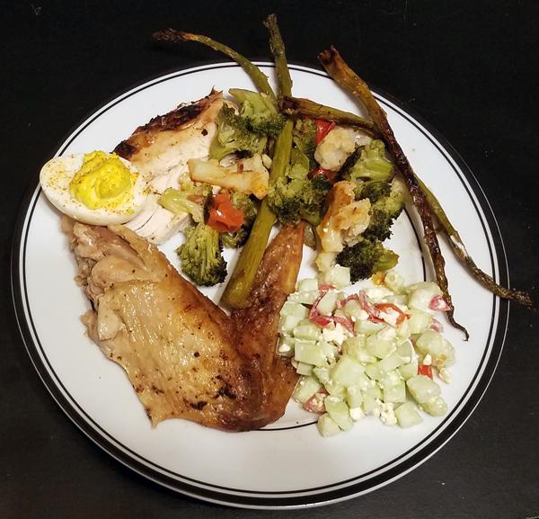 My keto Thanksgiving plate