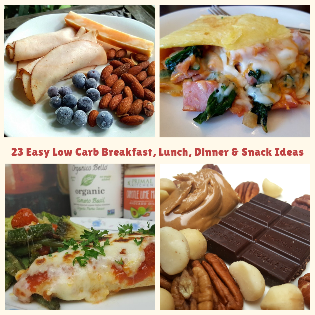 Low Carb Daily Meals for Atkins and Keto Diets
