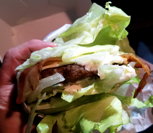 Hardee's Low Carb Burger in Lettuce Wrap - Easy Keto Lunch Ideas