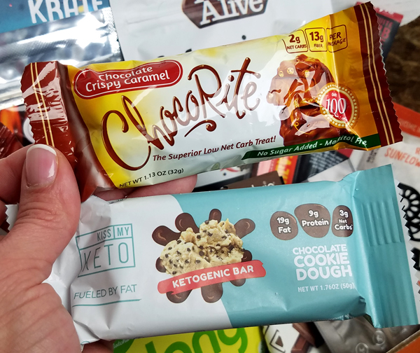 Keto Bars in the January Keto Krate - Gluten Free Low Carb Snack Ideas