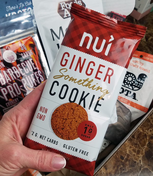 NUI Ginger Something Keto Cookies in the January Keto Krate