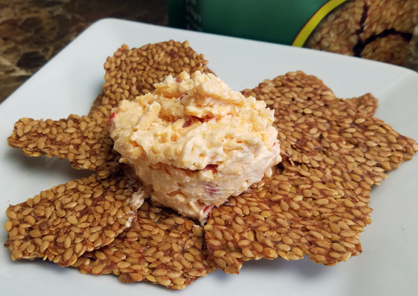 Simple Keto Snacks - Flax Crackers and Zero Carb Pimento Cheese (LCHF)