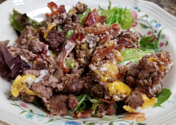 Bacon Cheeseburger Salad - Keto Meals