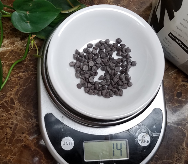Keto Portion Control - Sugar Free Chocolate Chips Test