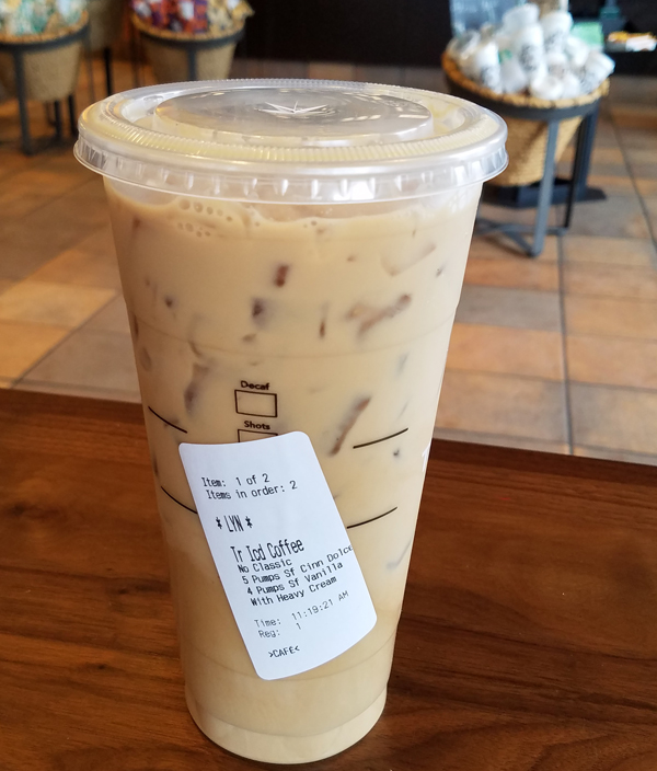 Starbucks Keto Iced Coffee