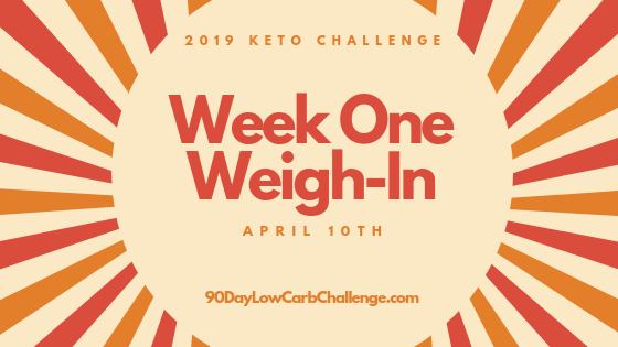 Keto Challenge Week One Weigh In