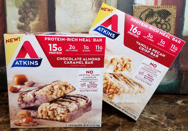 New Atkins Low Carb Bars Review
