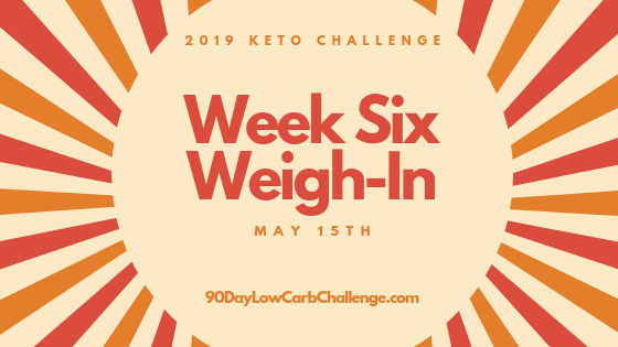 Keto Challenge Weigh-In Week 6