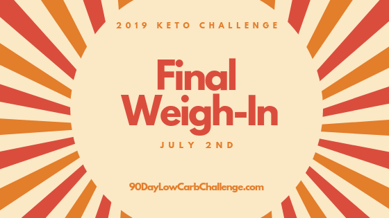 Keto Challenge Final Weigh In