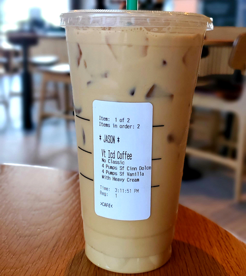 Low Carb Starbucks Order