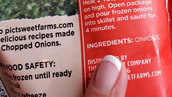 Frozen Chopped Onions Keto Recipe Ingredients