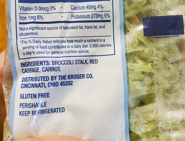 Keto Slaw Ingredients Low Carb Broccoli Slaw