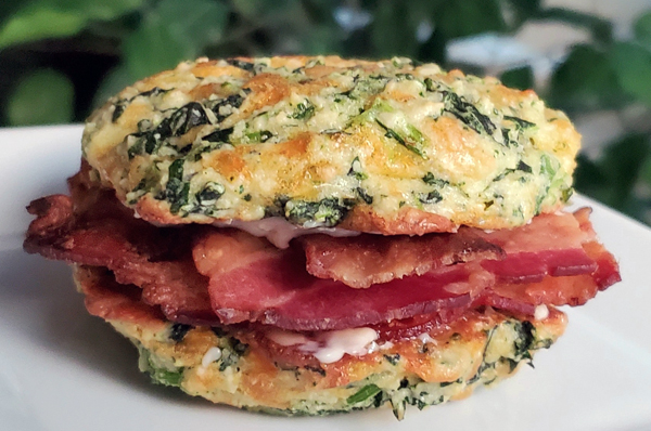 Bacon Biscuit Keto Breakfast