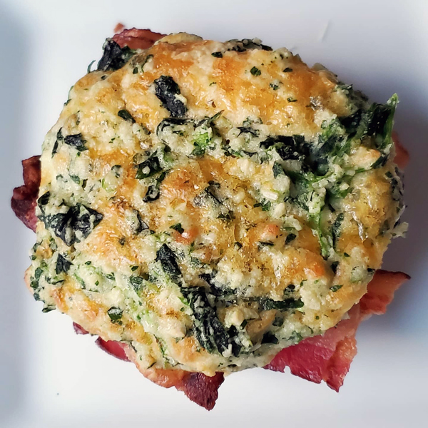 Low Carb Spinach Biscuits