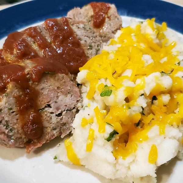 Low Carb Meatloaf Dinner